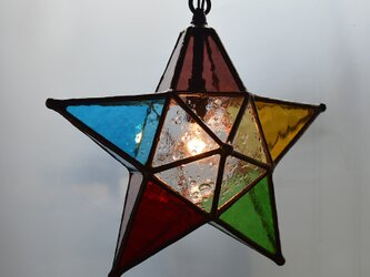 カラフル星のランプの画像