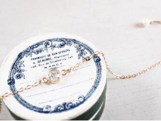 whitetopaz*braceletの画像
