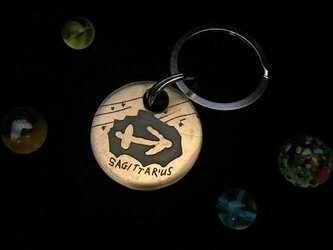 """銅板キーホルダー 12星座 """"SAGITTARIUS """" M023の画像"""