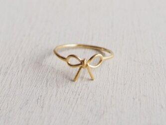 【受注制作】- 18KGP - Ribbon Ringの画像