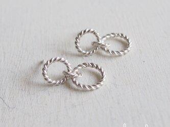 【再販】- Silver -  Twisted Circle ピアス - threeの画像