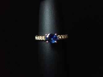 K10PG Sapphire-Chain Ring.の画像
