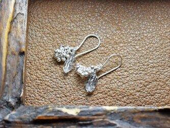 たわわなカレンシルバーチャームとハーキマーダイヤモンドのピアスの画像