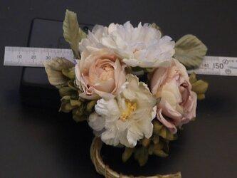布花 ロマンティックな花束 コサージュ2の画像