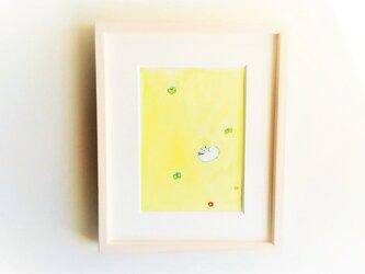 「陽だまりの庭」 イラスト原画 / 額縁入りの画像