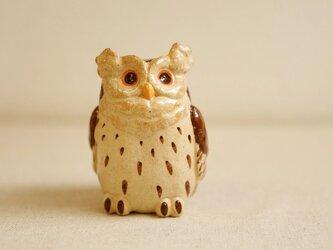 陶器のシマフクロウ 福の贈り物 不苦労(フクロウ)の画像