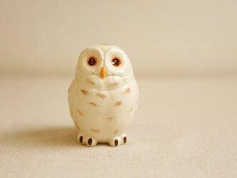 陶器のシロフクロウ 福の贈り物 不苦労(フクロウ)の画像