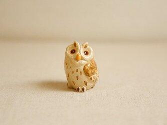 陶器のコミミズク 福の贈り物 不苦労(フクロウ)の画像