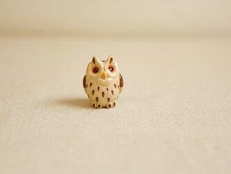 陶器のオオコノハズク 福の贈り物 不苦労(フクロウ)の画像