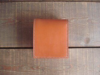 二つ折り財布 box-a オレンジブラウン【受注製作】の画像
