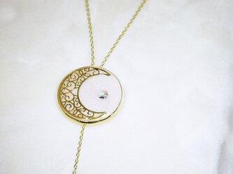 金の月 ロングネックレス(2Way)の画像