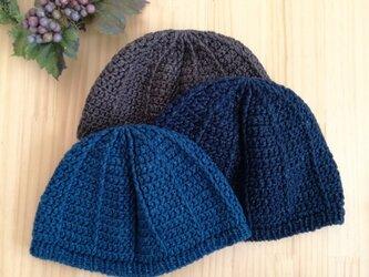 デニム風コットンのイスラム帽の画像