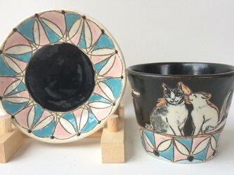 猫集会 カップ&ソーサーの画像