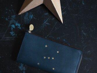 L字ファスナー長財布( ORION ナイトブルー)オールレザー 革 ILL-1162の画像