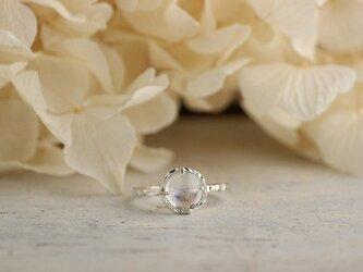silver ロイヤルブルームーンストーンのリングの画像