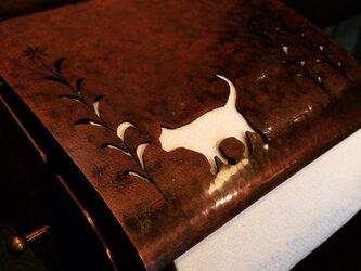 銅製ペーパーホルダー(猫)の画像