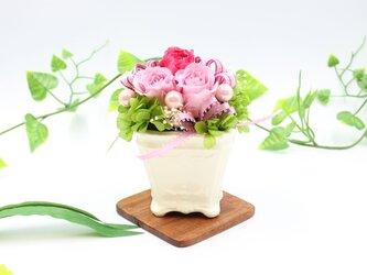 薔薇とあじさいのフルール【パープル】の画像