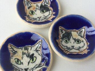 ミケ猫箸置き/豆皿 3個セットの画像
