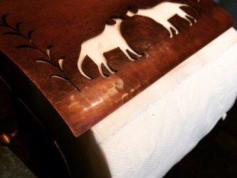 銅製ペーパーホルダー(犬)の画像