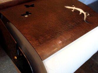 銅製ペーパーホルダー(ヤモリ)の画像