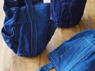 indigo bag A「薄」の画像