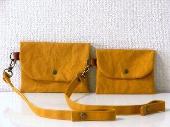 帆布 3way いろいろポーチ&キーホルダー 大 mustardの画像