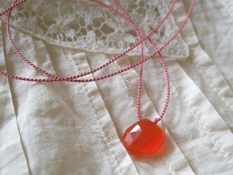 カーネリアンのネックレスの画像