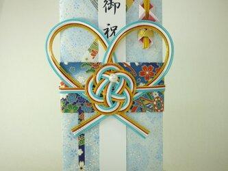 【送料無料】m293 友禅和紙と襖紙●着物の祝儀袋 の画像