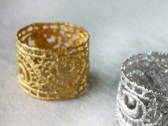 peacock feathers ring (gold)の画像