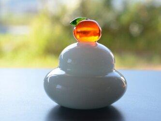 ミニミニガラスの鏡餅の画像