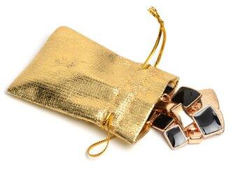 10枚入り サテン巾着袋【ゴールド】巾着袋  アクセサリー バック ラッピング用品の画像