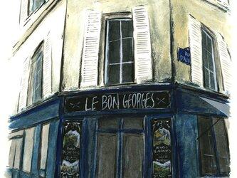 サン=ジョルジュ通りのカフェの画像
