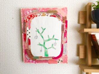ファブリックボード「箱のなる木(2)」の画像