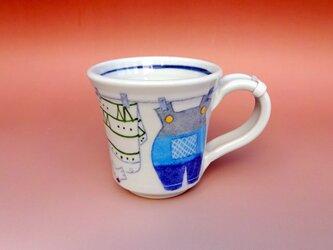 【名入れ可】こどもマグカップ洗濯柄シリーズの画像