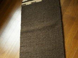 手織りラグ 二重織りの画像