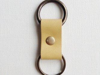 つり革モチーフの革キーホルダーの画像