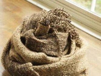 手織りストール 栗 (サマー&ウィンター)の画像