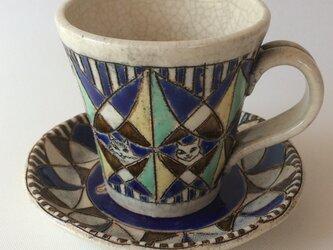 フォークロア模様のカップ&ソーサーの画像