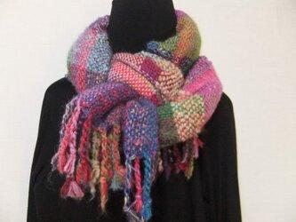 お気に入りの糸たちの手織りストールⅠの画像