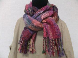 お気に入りの糸たちの手織りストールⅡの画像