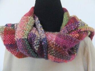 お気に入りの糸たちの手織りストール IIIの画像