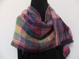 手紬ぎ手織りストール #3の画像