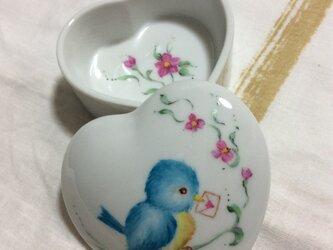 ☆再販☆シアワセの青い鳥、の小物入れの画像