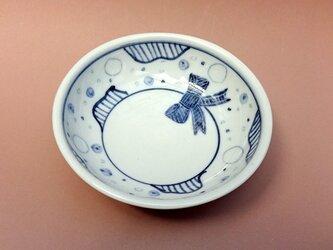豆皿リボン柄の画像