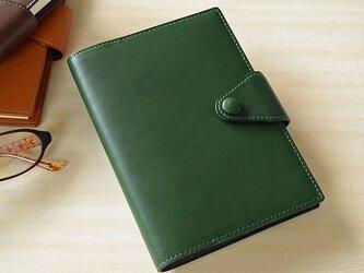 シンプル手帳カバー・A6 緑の画像