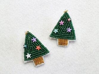 クリスマスツリーブローチの画像