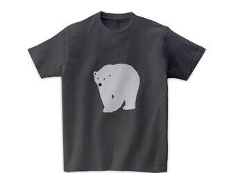 動物Tシャツ-シロクマ(チャコールグレー)の画像