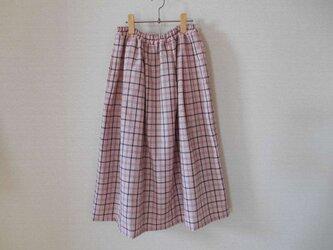 ウール着物地のリメイクスカート★両脇ポケット付きの画像