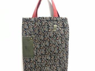 tote bag/ヴィンテージ レオパード柄のトートバッグ    ■tf-303の画像