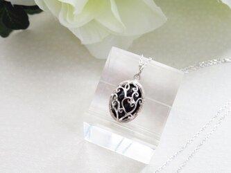 Silver925  オニキス ペンダントネックレスの画像